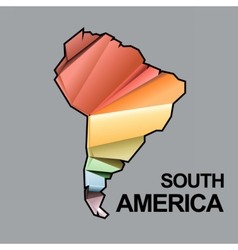 Digital south america map with abstract vector image vector image