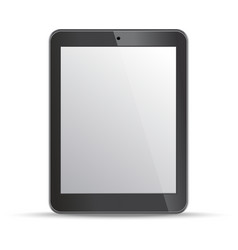 Empty screen tablet template on white background vector image vector image