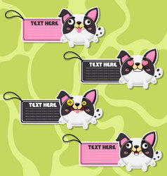Four cute cartoon Dogs stickers vector image