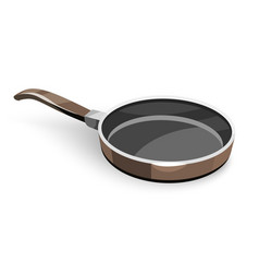 frying pan for pancakes vector image