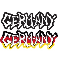 Germany word graffiti different style vector image vector image
