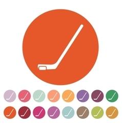 Hockey icon game symbol flat vector