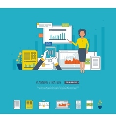 Project management investment finance education vector image vector image