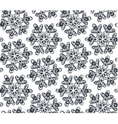 Seamless pattern with hand drawn snowflakes vector