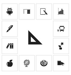 Set of 13 editable teach icons includes symbols vector