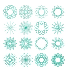 Set of different sixteen patterns vector
