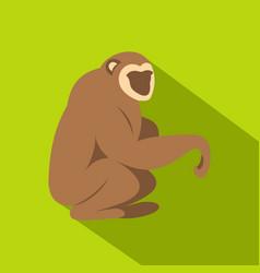 sitting monkey icon flat style vector image vector image