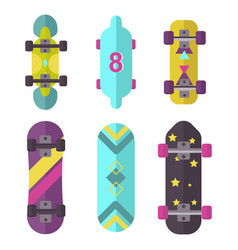 Skateboard icon extreme sport sign vector
