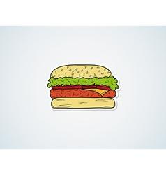 sketch of the hamburger vector image