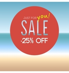 Summer sale with percentage vector image