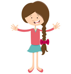 Teen girl cartoon character vector