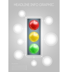 Template with 3D-effect red yellow green metaballs vector image