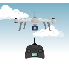 video drone technology isolated icon design vector image vector image