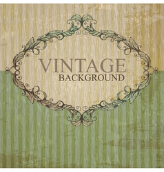 Vintage label vector image