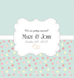 Wedding invitation card with abstract floral vector image vector image