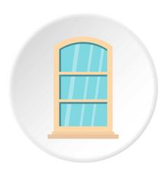 White narrow window icon circle vector