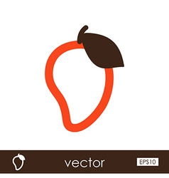 Mango outline icon tropical fruit vector
