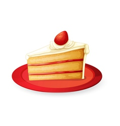 Pastry in red dish vector