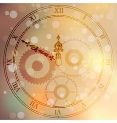 Antique clock fac vector