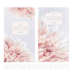 Dahlia invitation cards vector