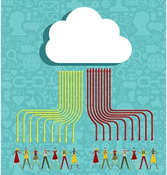 Cloud computing people concept vector