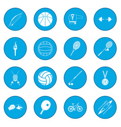 summer sport icon blue vector image