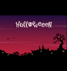 Landscape halloween with grave background vector