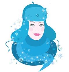 Girl of winter vector