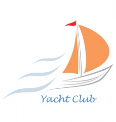 yacht sailboat vector image