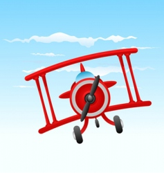 Cartoon old plane vector