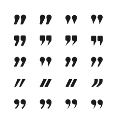 Quote and quotation marks icons vector image