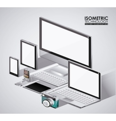 Isometrics technology design vector