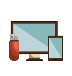 data storage design vector image