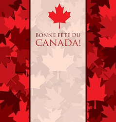 Scatter canada day maple leaf card in format vector