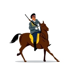 Russian cavalry cartoon vector