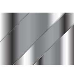 Abstract grey metallic plate design vector