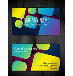 attractive business card design vector image