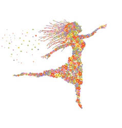beautiful dancing floral girl vector image