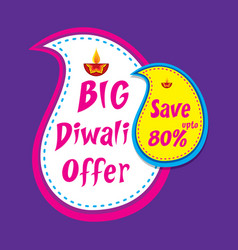 Big diwali offer banner design vector