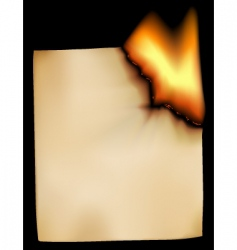 burning paper vector image vector image