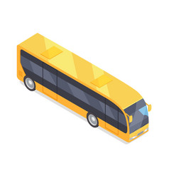 Bus icon in isometric projection vector