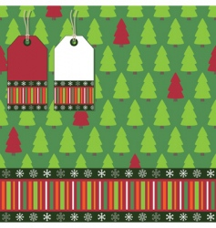 Christmas tree wrapping vector image