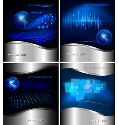 Collection of abstract business backgrounds vector image