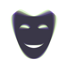 Comedy theatrical masks colorful icon vector