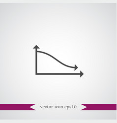 diagramma icon simple vector image vector image