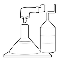 Factory lab icon outline style vector