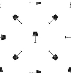 Floor lamp pattern seamless black vector