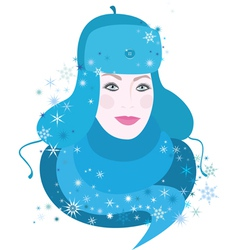 Girl of winter vector