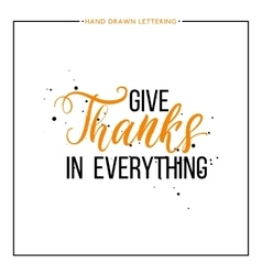 Give thanks text with black splashes vector image vector image