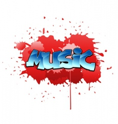 graffiti music background vector image vector image
